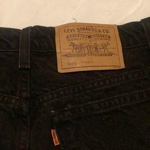 Black (faded) vintage Levi shorts